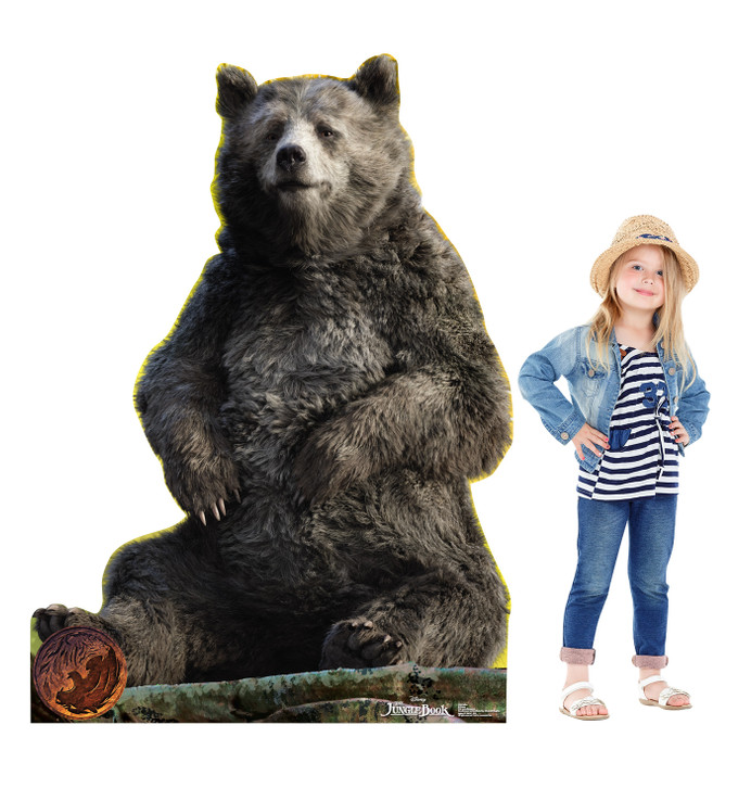 Baloo - Live Action Jungle Book Lifesize Cardboard Cutout with Model