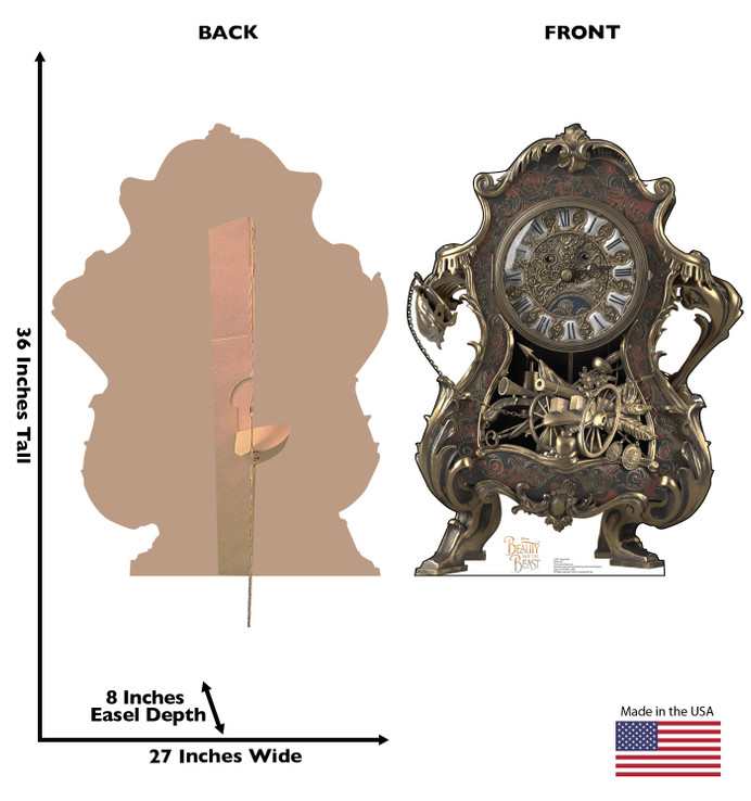 Cogsworth - Live Action Beauty and the Beast Lifesize Cardboard Cutout Dimensions