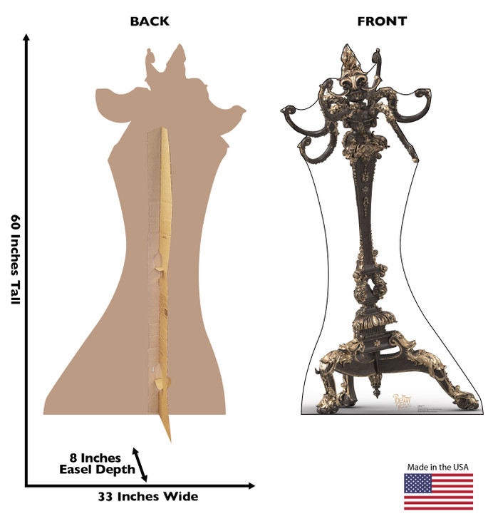 Chapeau - Live Action Beauty and the Beast Lifesize Cardboard Cutout Dimensions