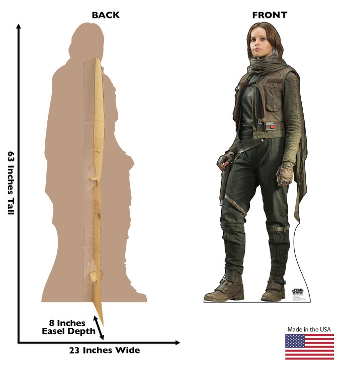 Jyn Erso™ - Rogue One - Star Wars  Lifesize Cardboard Cutout  dimensions