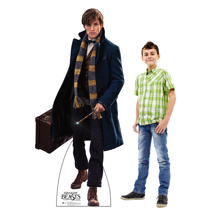 Newt Scamander- Fantastic Beasts and Where to Find Them Lifesize Cardboard Cutoutwith Model