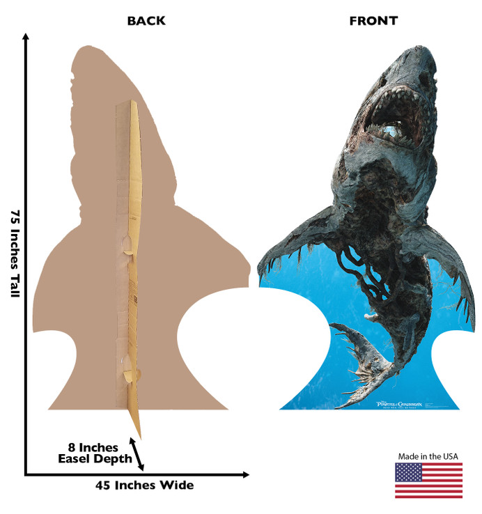 Ghost Shark - Disney- Pirate of the Caribbean Lifesize Cardboard Cutout