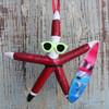 Surfing Santa Starfish Ornament