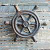 Green Ship's Wheel Iron Knob