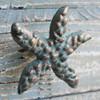 Green Starfish Iron Knob