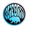 California Bear Circle Sticker