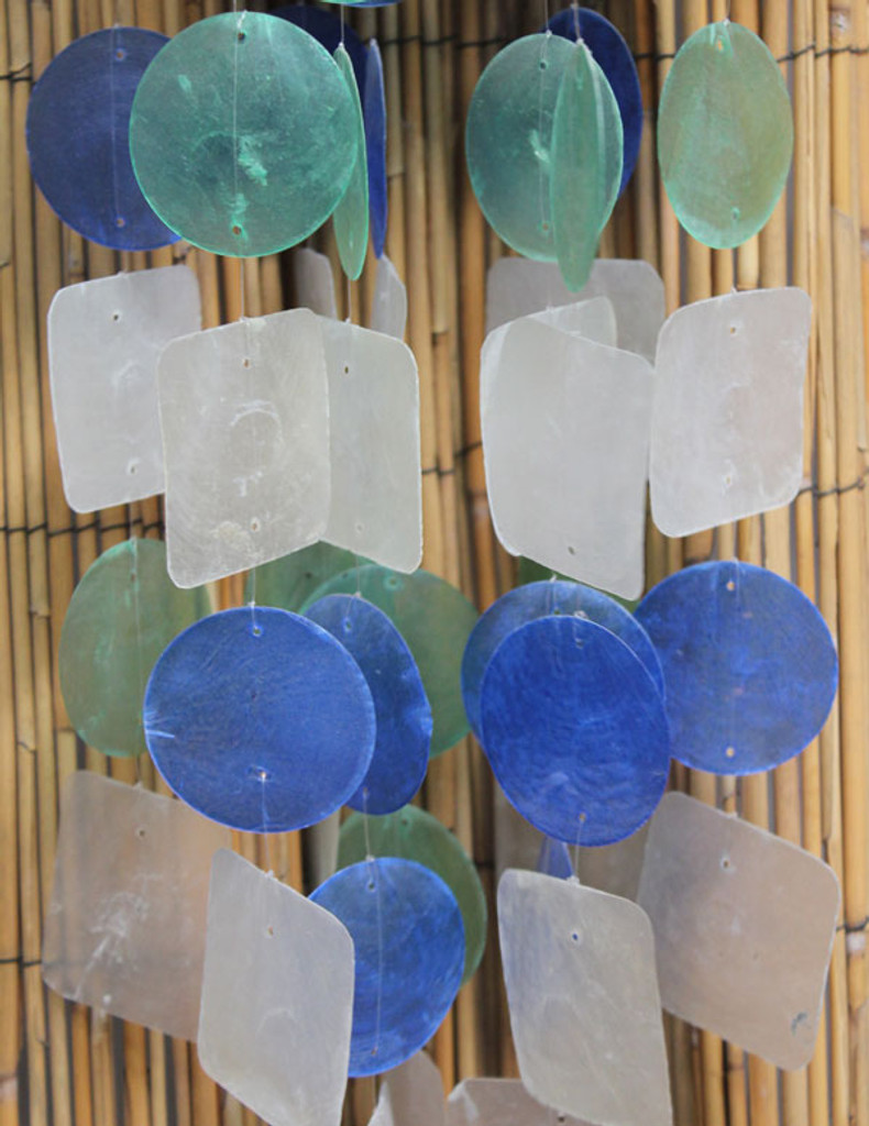 Capiz Circle and Square Chimes