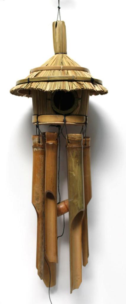 Tiki Birdhouse Wind Chimes