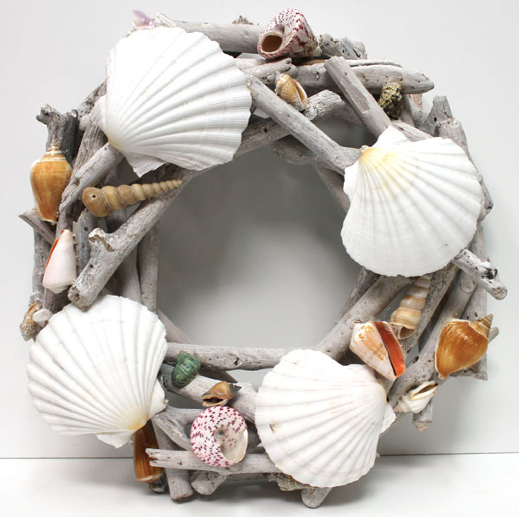 Driftwood & Scallop Shell Wreath
