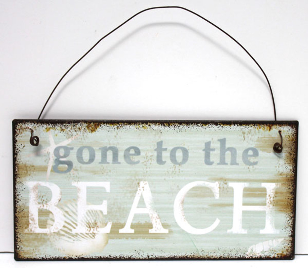 Gone to the Beach Small Metal Sign
