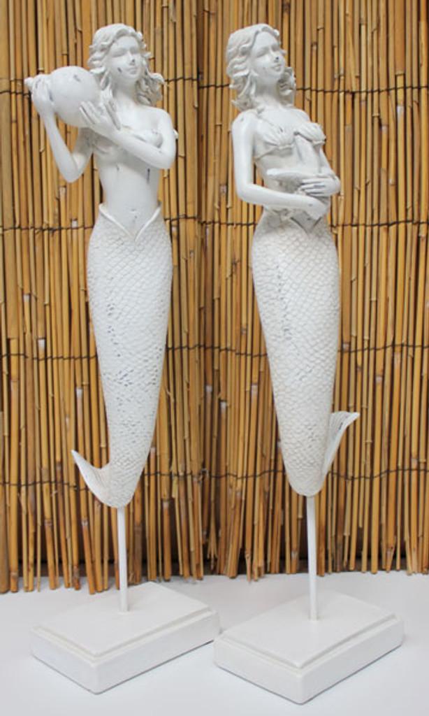 White Standing Mermaids - Set of 2