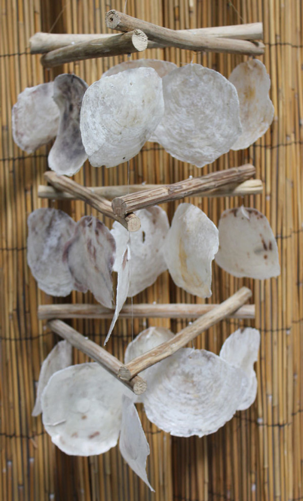 Triangle Driftwood & Placuna Shell Chimes