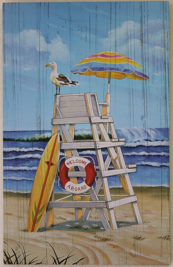Lifeguard Chair - Printed Wood Sign