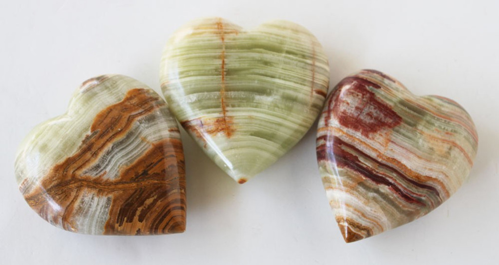 Multi-Green Stone Heart