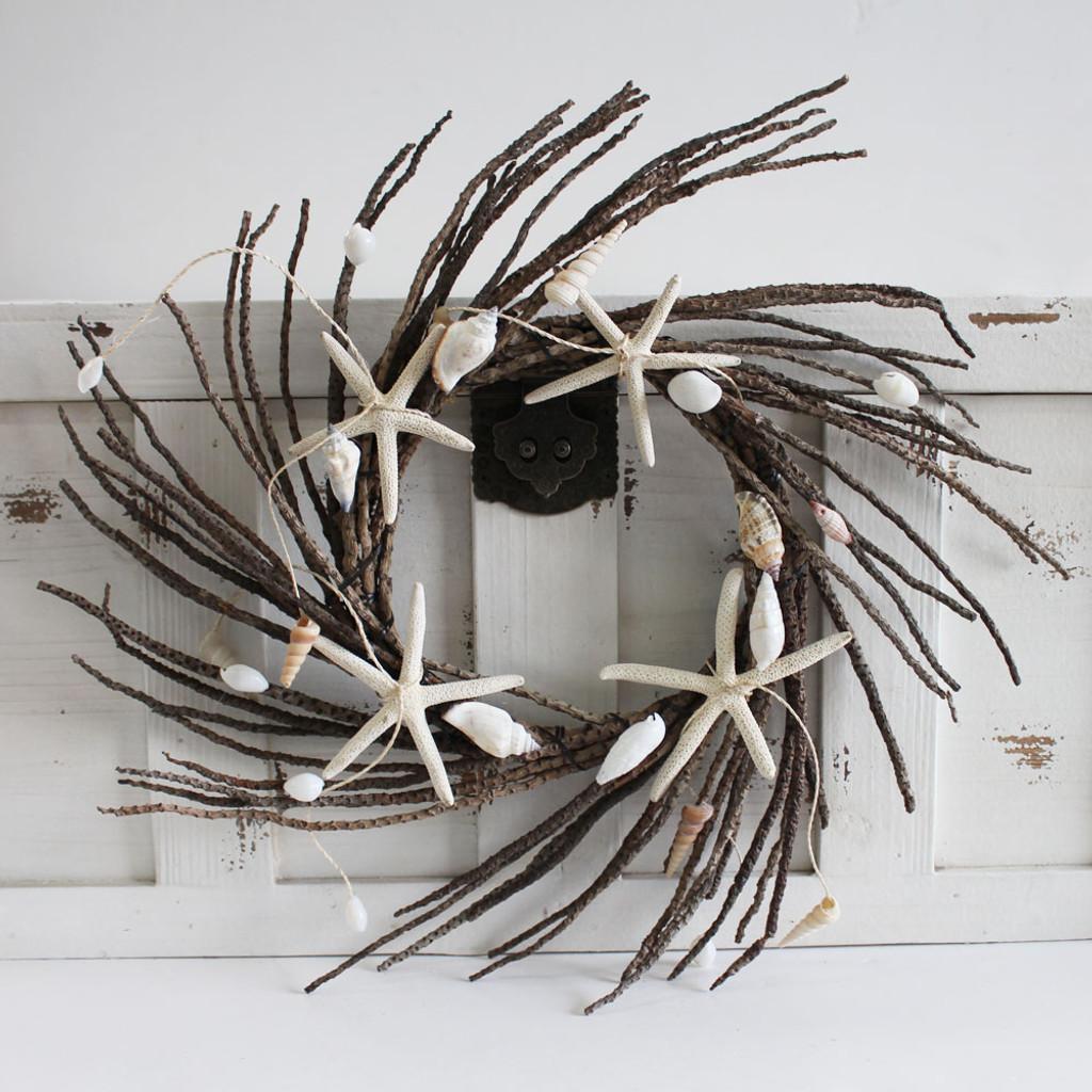 Coco Twig & Shell Wreath
