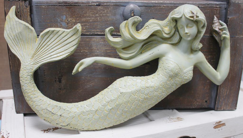 Sea Beauty Mermaid Wall Figure