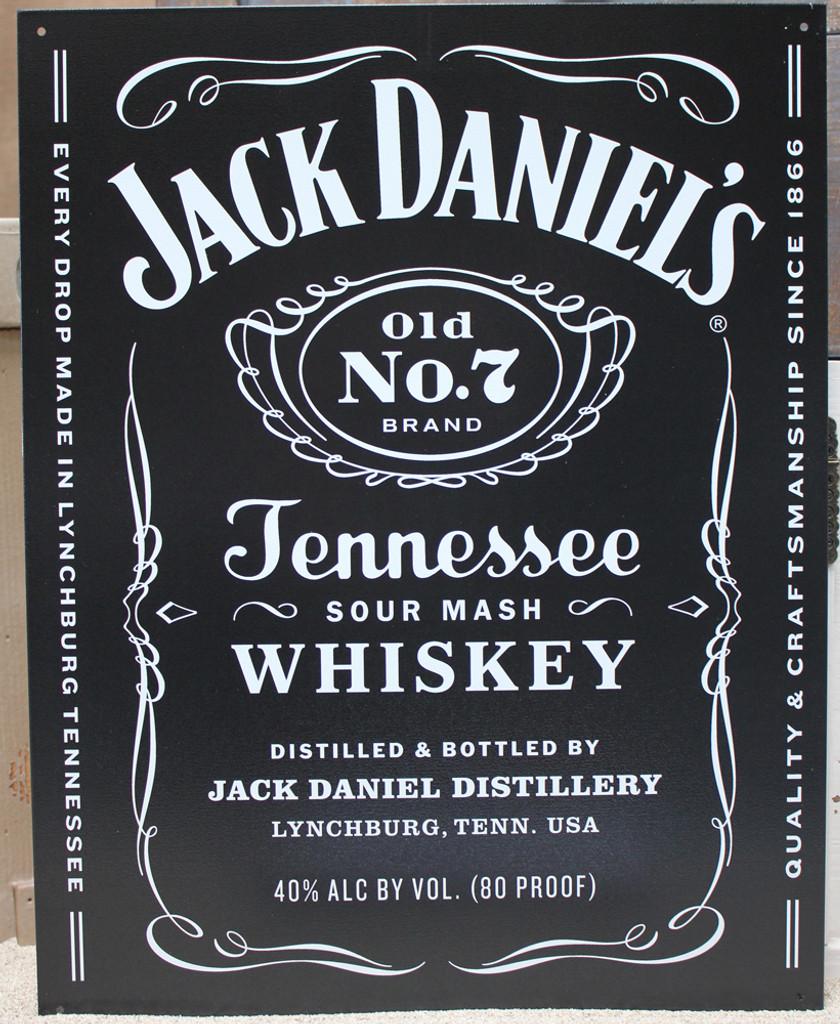 Jack Daniels Black Metal Sign