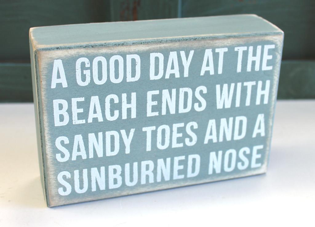 Good Day at the Beach Wood Box Sign