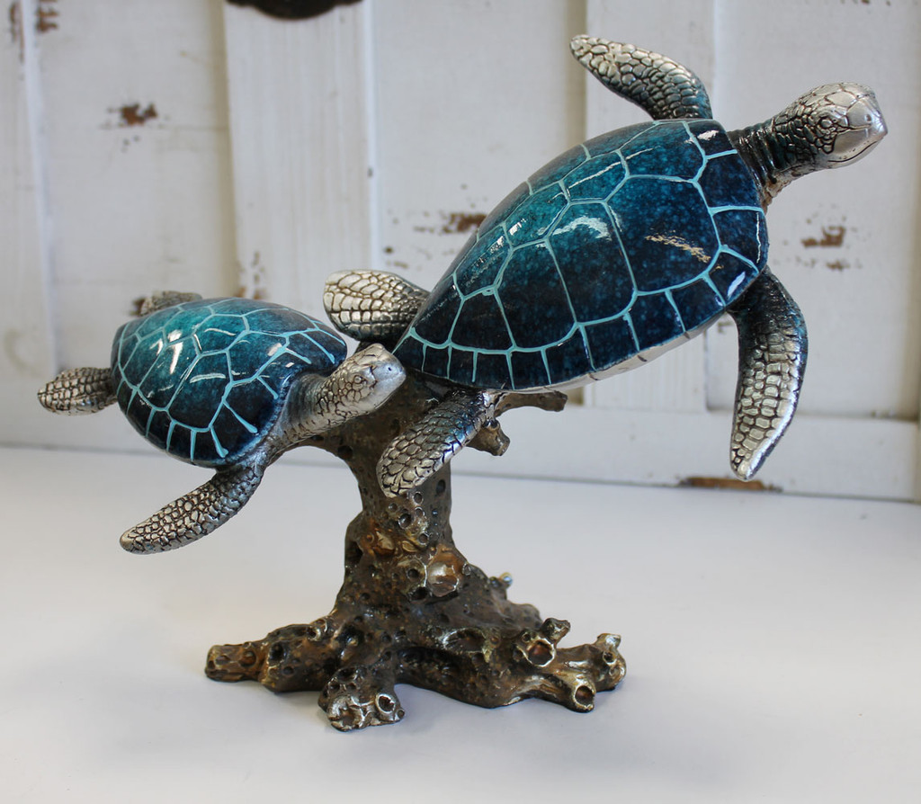 Double Blue Sea Turtle and Kelp
