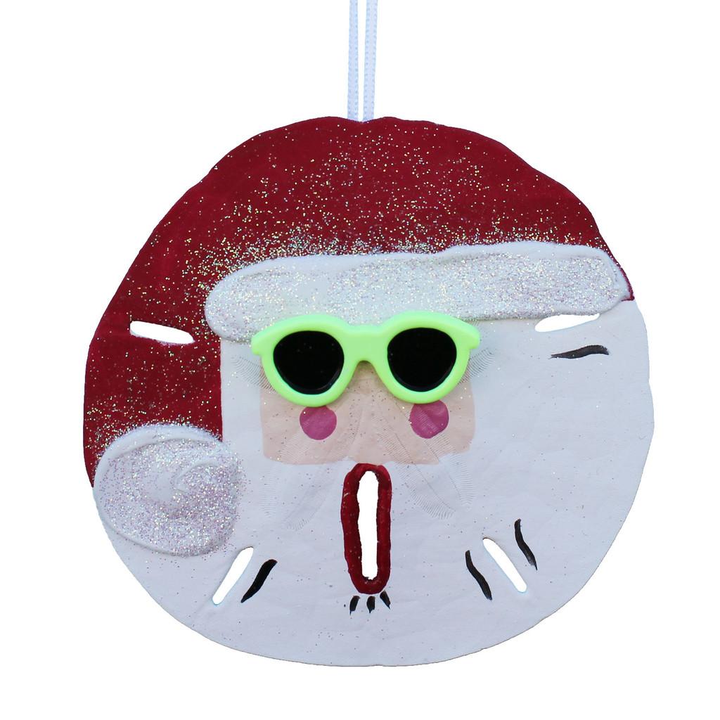 Green Sunglasses Sand Dollar Santa Claus