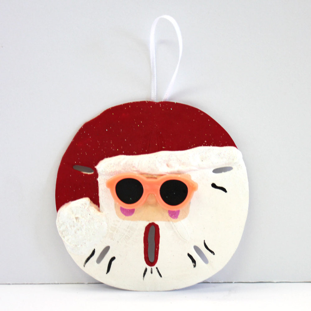 Hand-Crafted Sand Dollar Santa