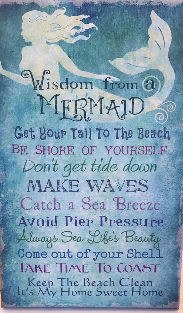 Wisdom from a Mermaid Canvas
