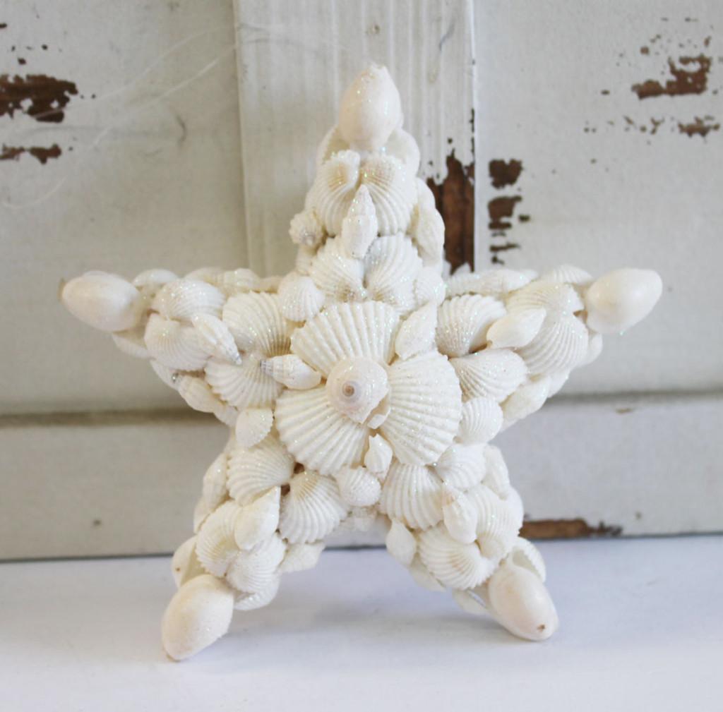 White Shell Star Ornament