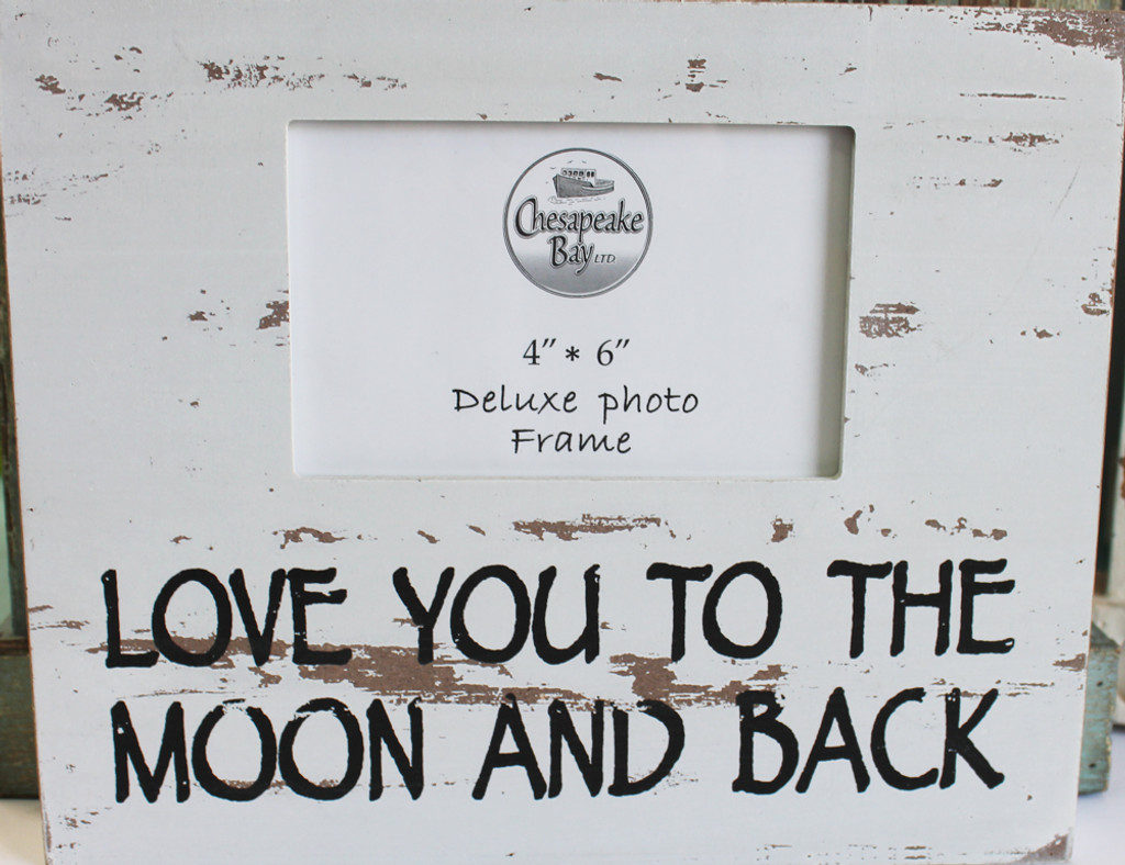 White Love You To The Moon And Back Box Picture Frame Beach