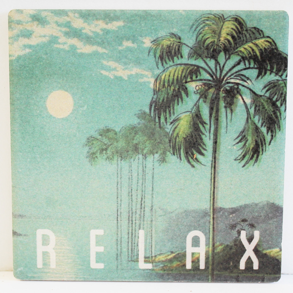 Palm Tree Moon Relax Coaster