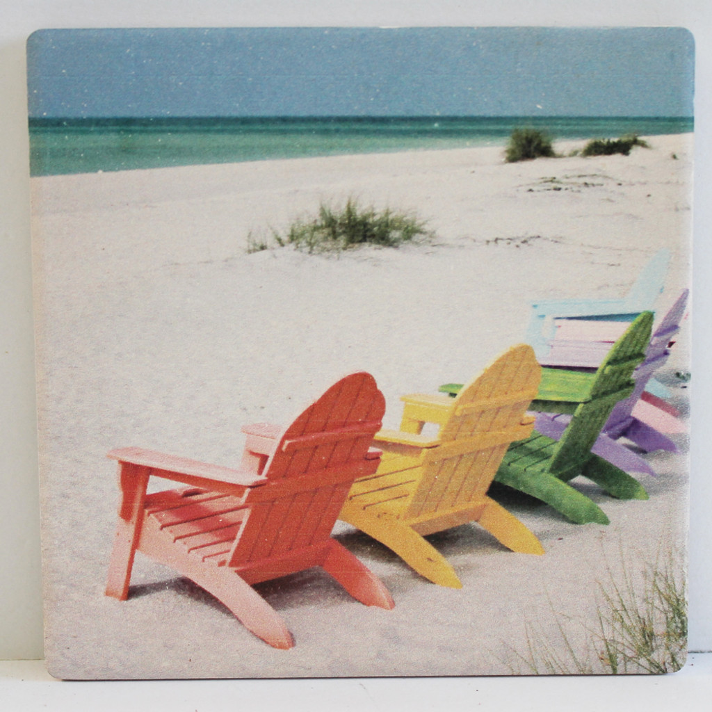 Colorful Chairs on Beach