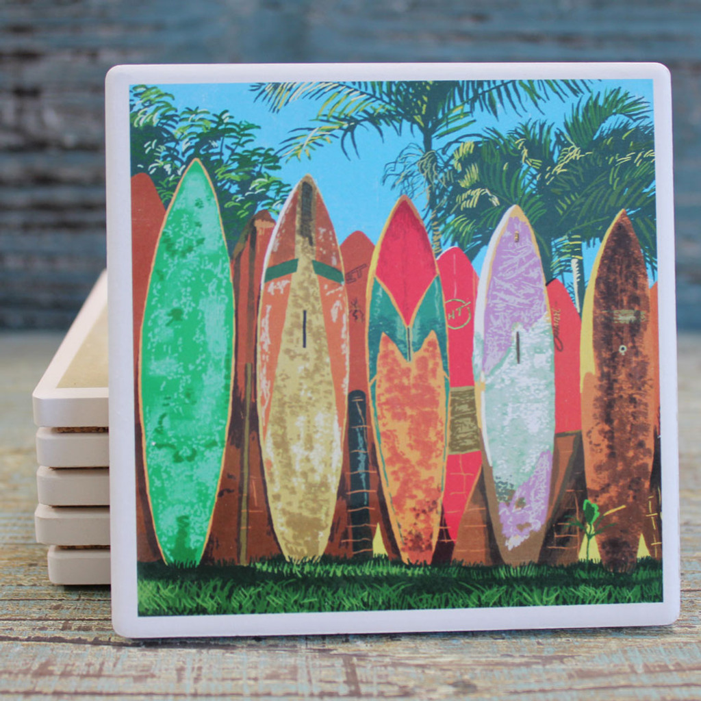 Surfboard Fence Coaster