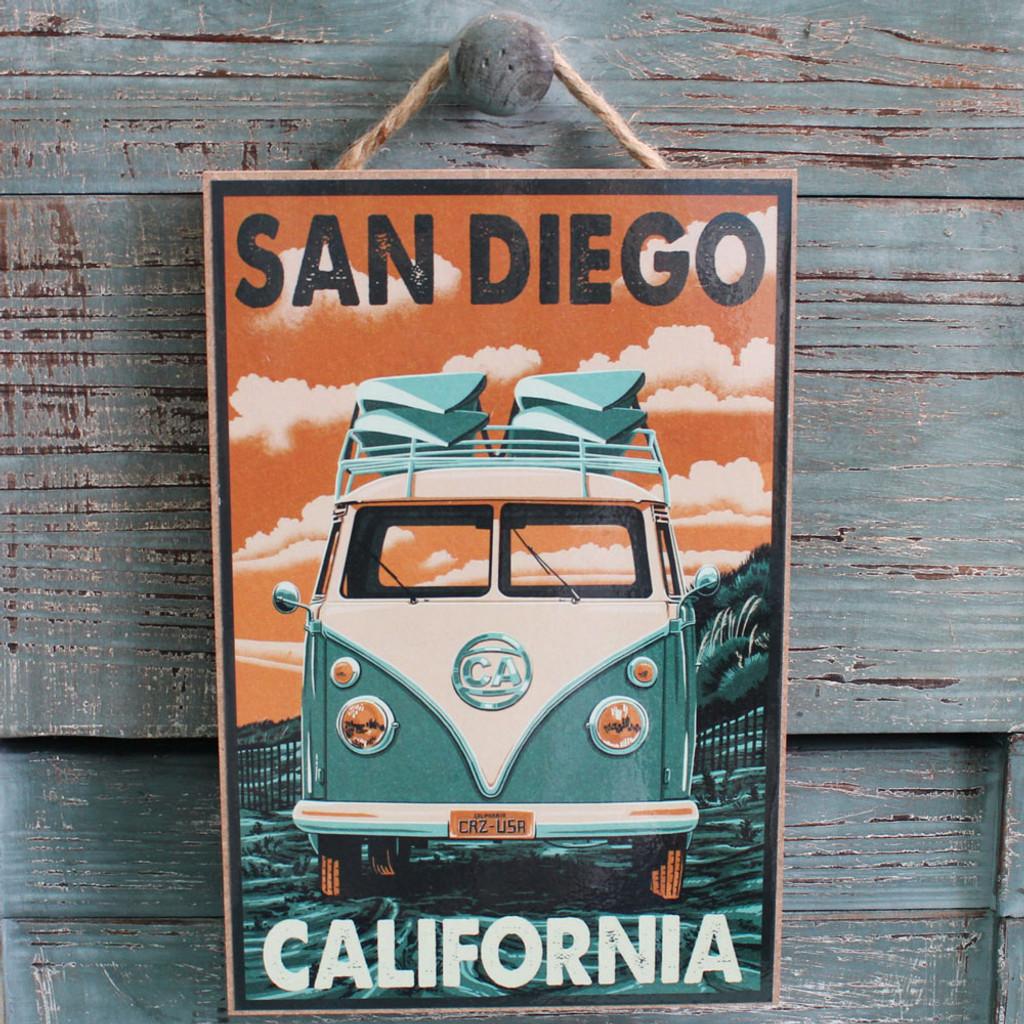 Vw San Diego >> Vw Van San Diego Wood Sign