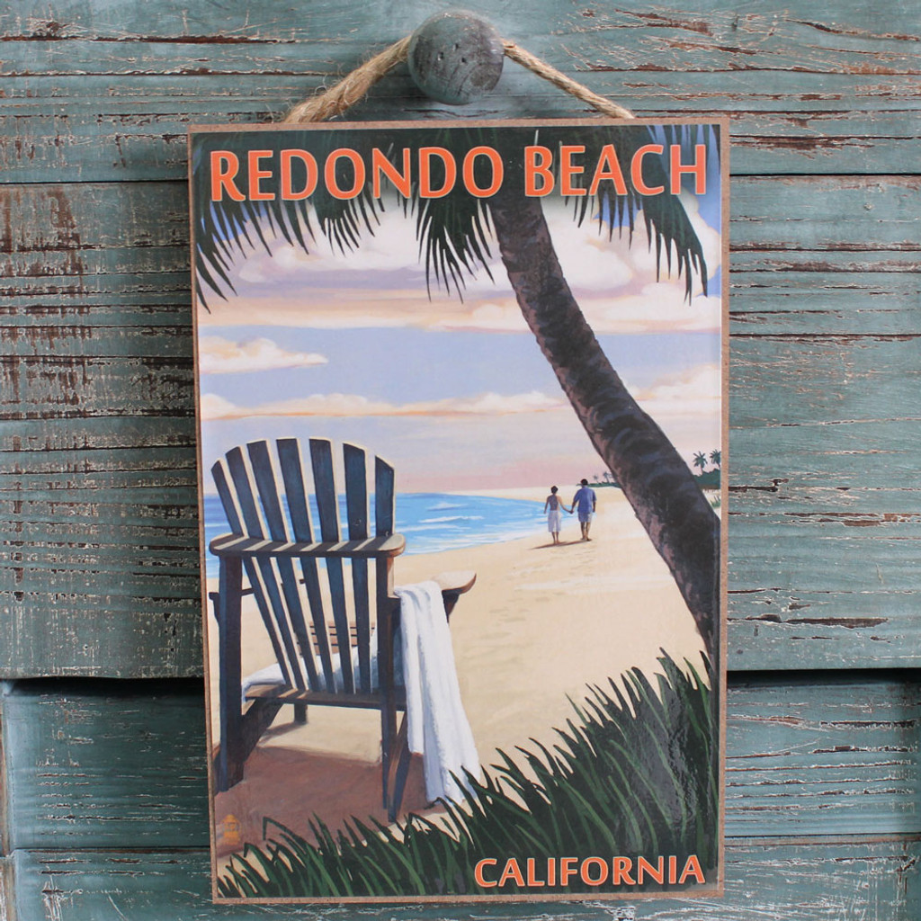 Adirondack Chair Under a Palm Tree Sign