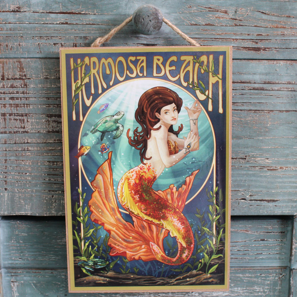 Hermosa Beach Mermaid Sign