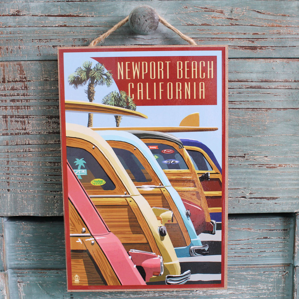 Woodies Lined Up Newport Beach