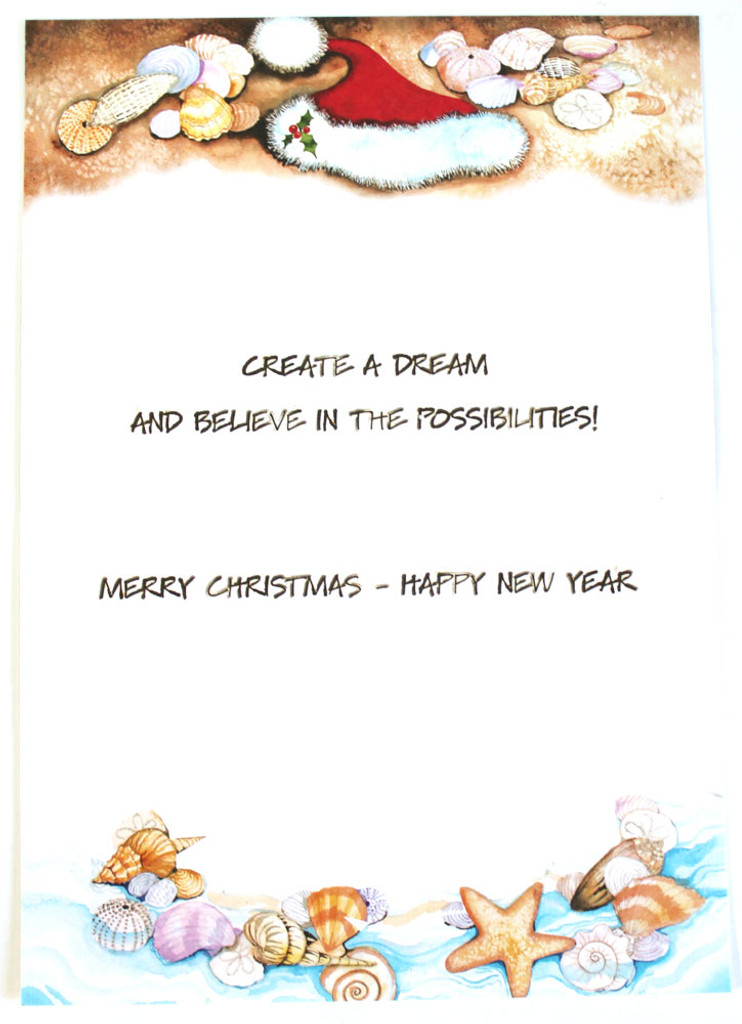 Create a dream and believe in the possibilities! Merry Christmas ? Happy New Year