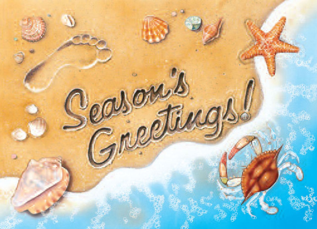 Season's Greetings Surf Christmas Card