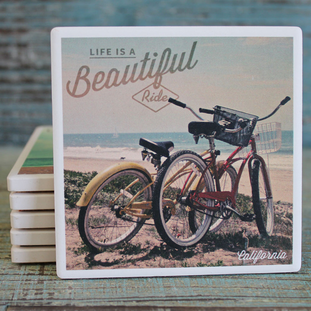 Life is a Beautiful Ride - Beach Cruisers Coaster