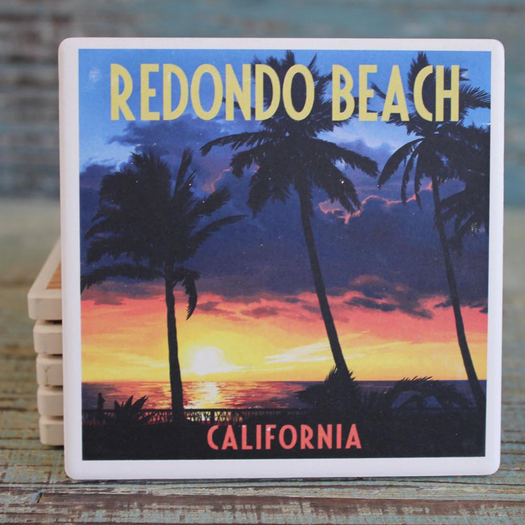 Redondo Beach Palms at Sunset