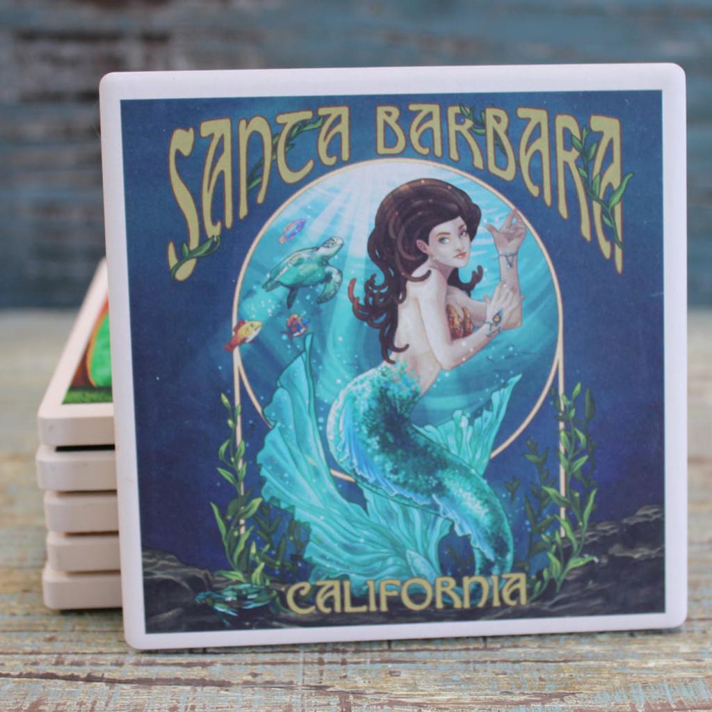 Santa Barbara Blue Mermaid Coaster