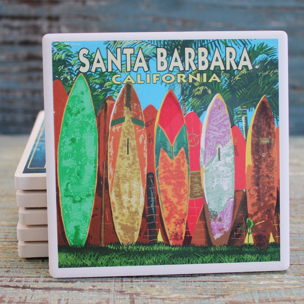 Santa Barbara Surfboard Coaster