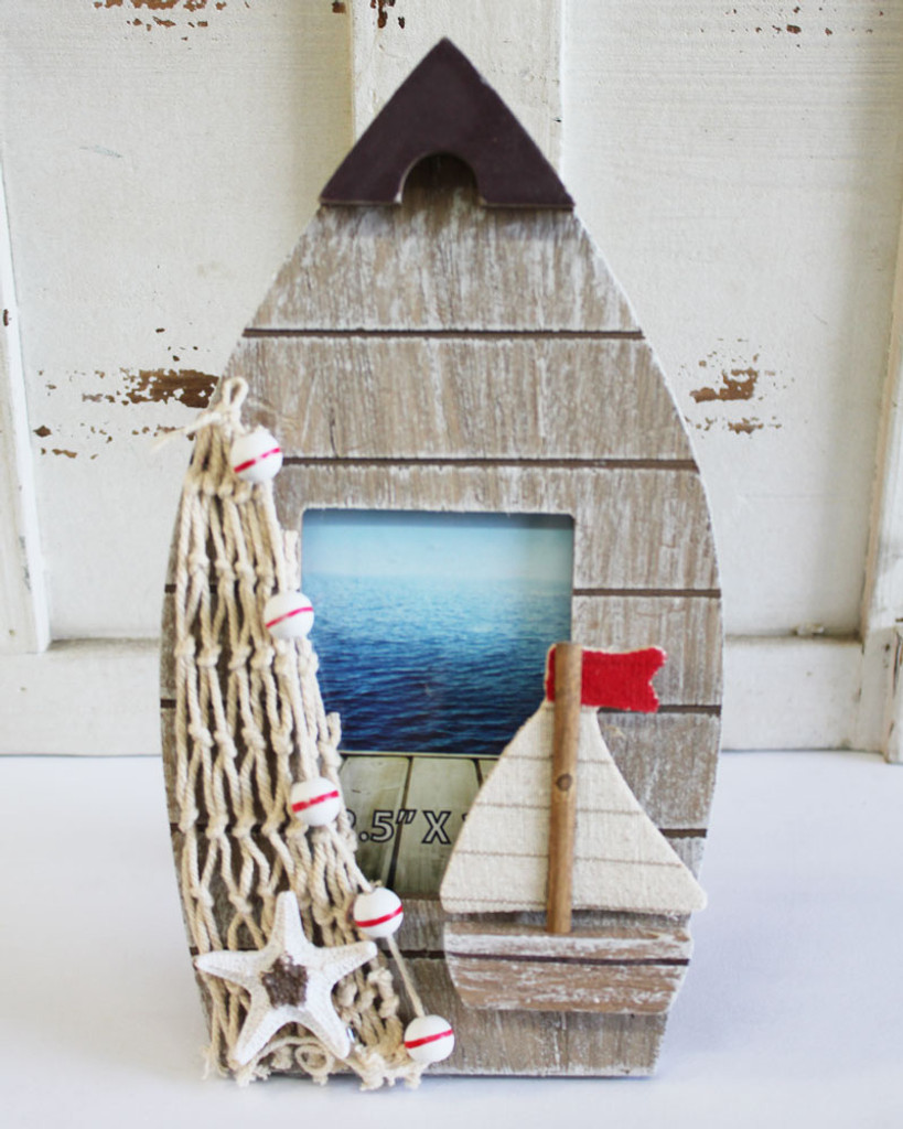 Small Brown Boat Picture Frame