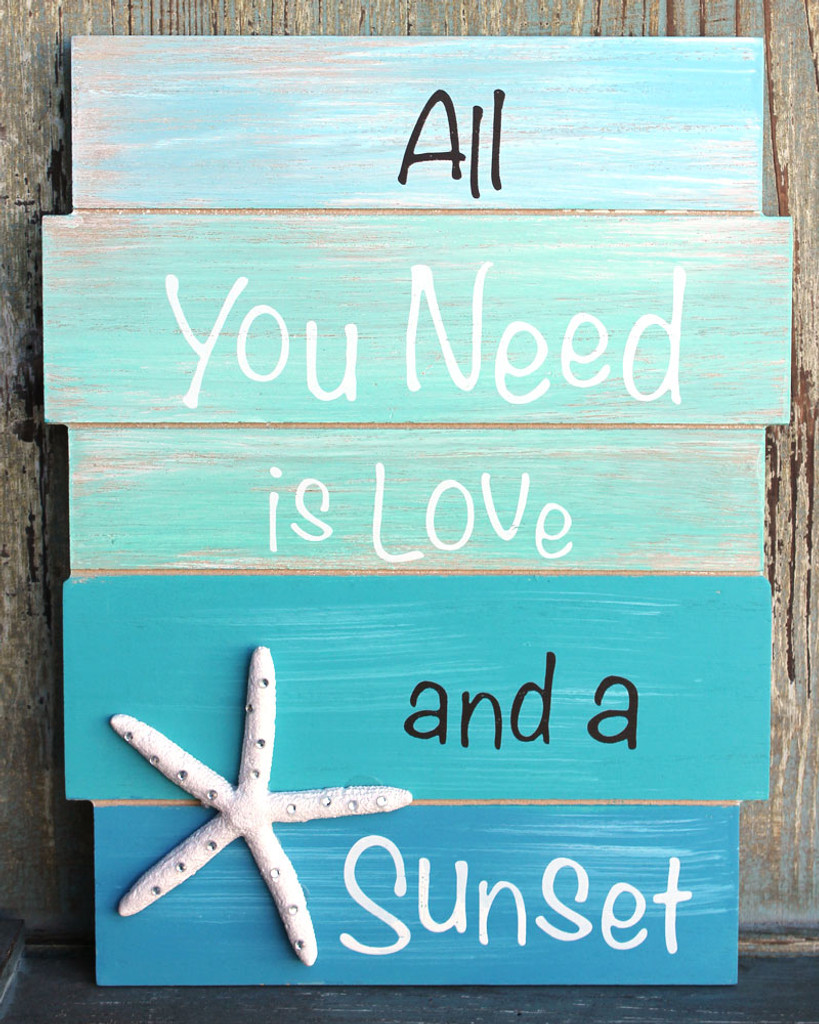 All You Need is Love and a Sunset Wood Sign