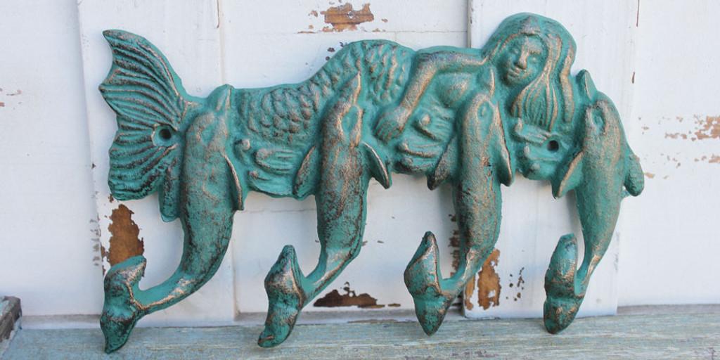 Mermaid & Quadruple Dolphin Hook