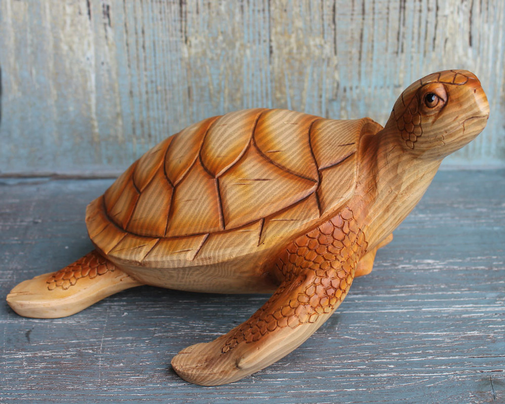 Large Sea Turtle Figure