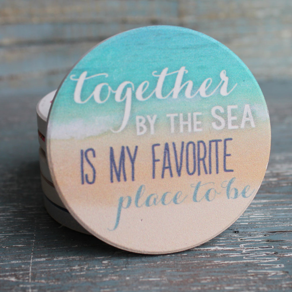 Together by the sea is my favorite place to be.