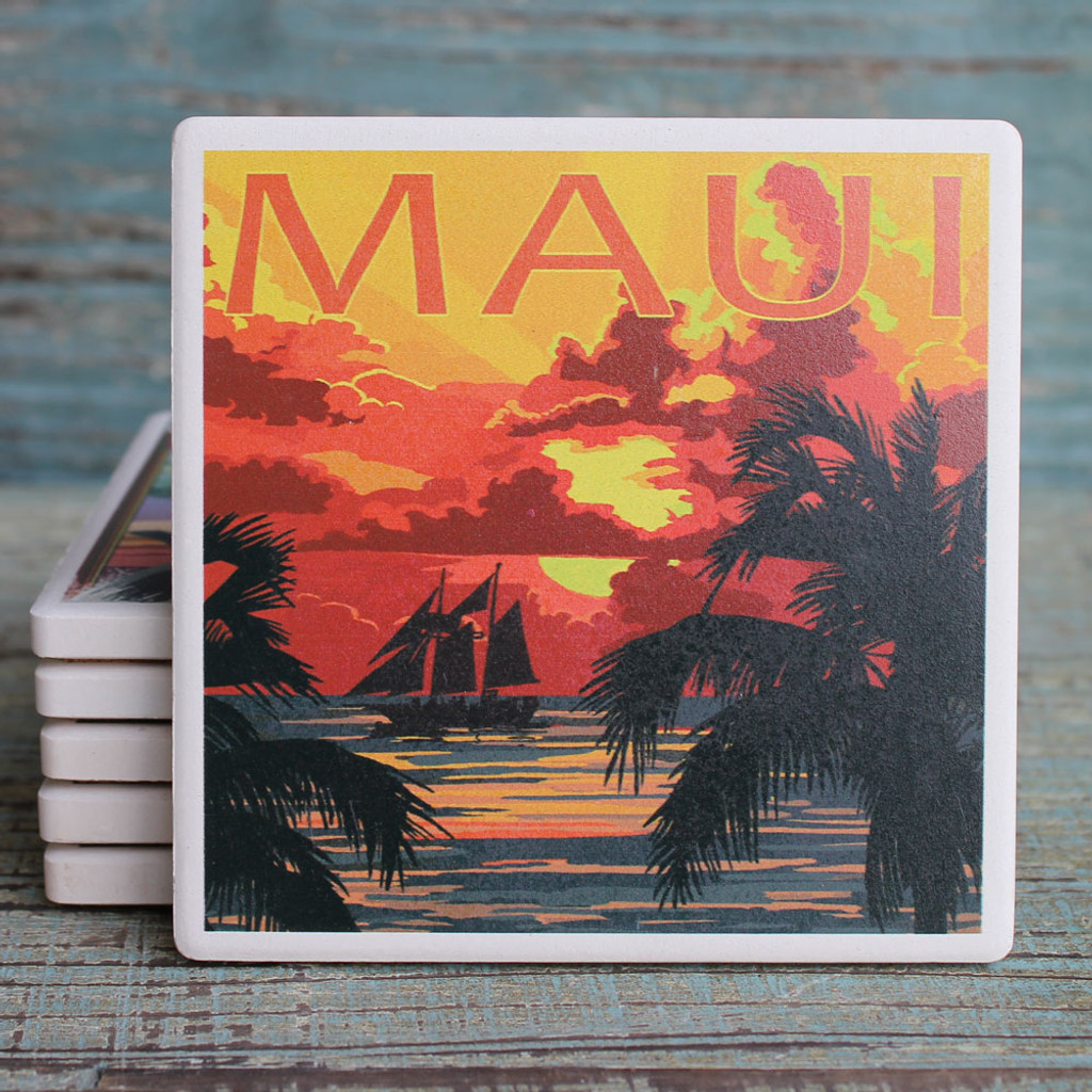 Ship at Sunset Maui Coaster