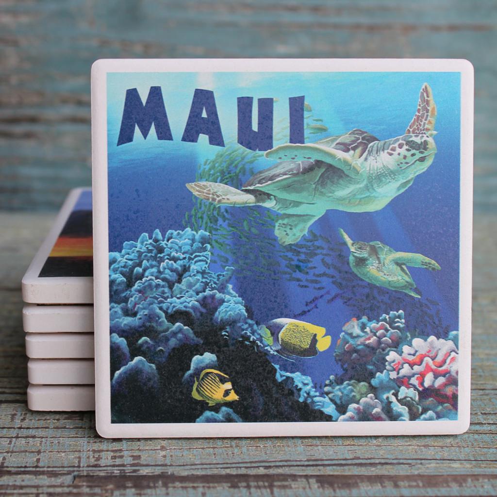 Maui Sea Turtles Coaster