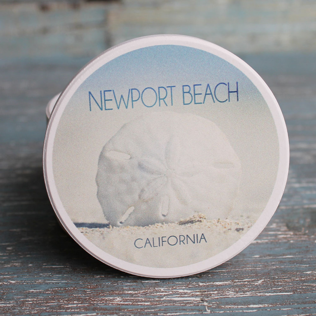 Newport Beach Sand Dollar in the Sand Car Coaster