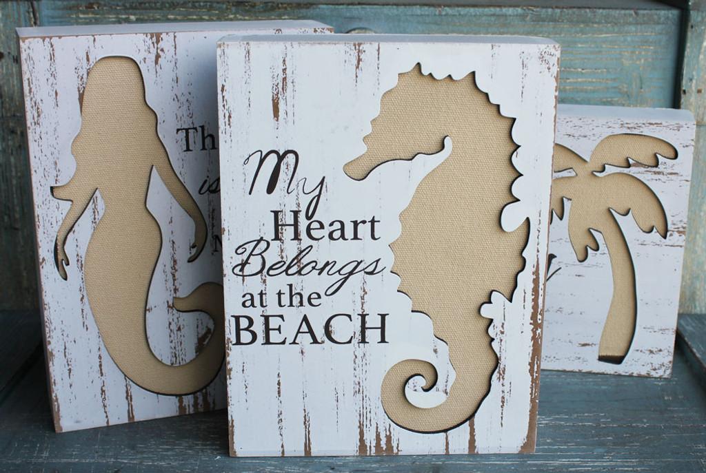 My Heart Belongs at the Beach - Seahorse